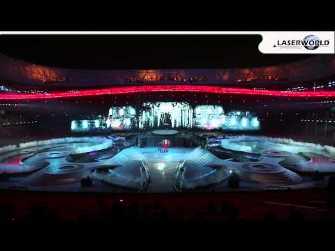 """Attraction"" Multi Media Show in Bird's Nest Stadium, Beijing 2013 | Laserworld, Ray Technologies"