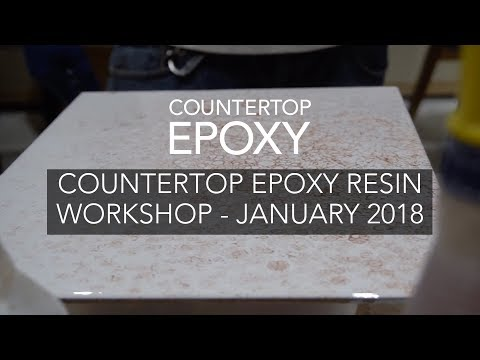 Countertop Epoxy Resin Workshop - January 2018