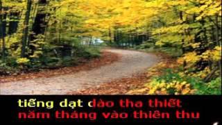 THU TRỞ LẠI - Thơ : NGUYỄN THUÝ NGA - Phổ nhạc : HẢI ANH Karaoke