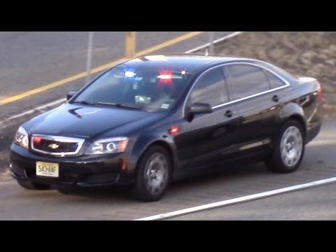 2 New Jersey State Police Cars Responding 11-22-16