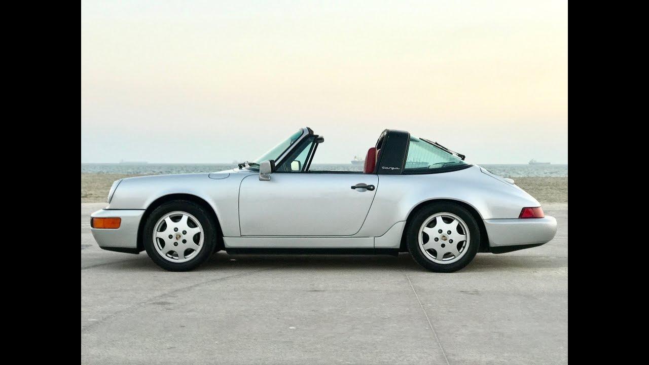 1990 porsche 911 964 targa drive by hard pulls inside cabin engine idle youtube