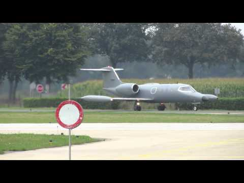 Skyline Aviation, Gates Learjet 36A, N116MA and Albatros ES-TLE, Departures Volkel AB