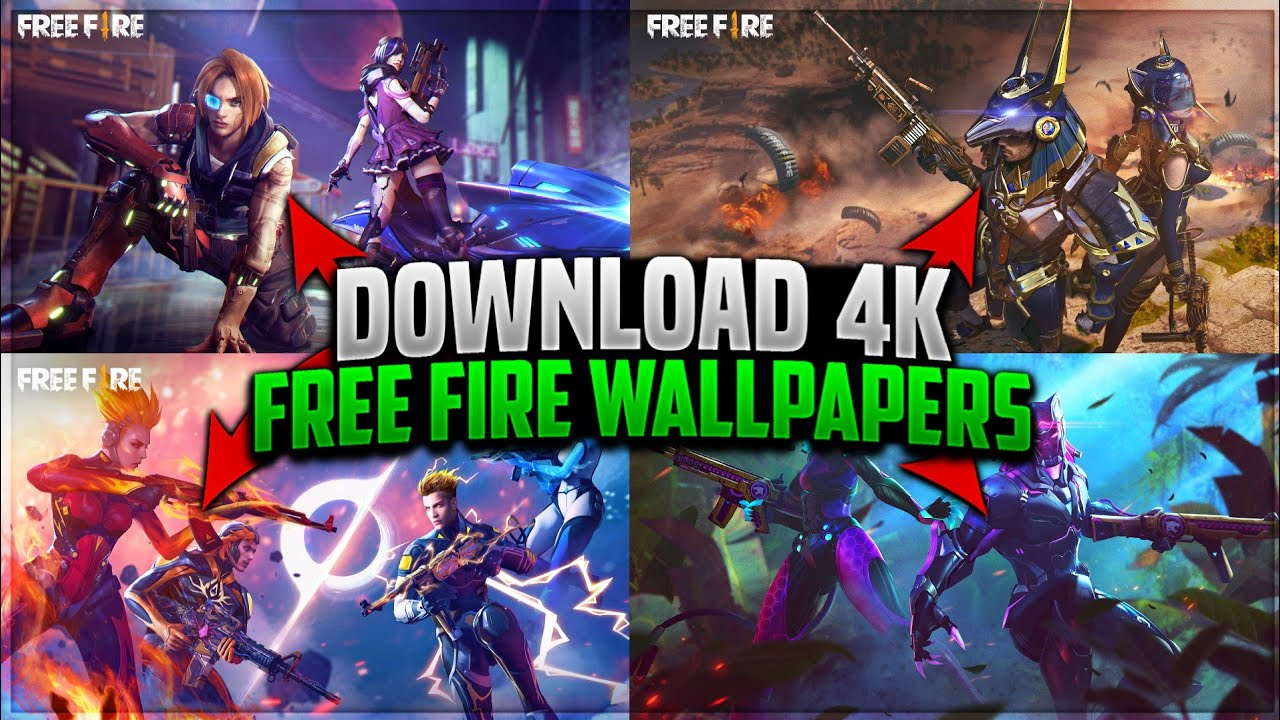 How To Download Free Fire 4k Wallpaper 100 Real Ff Gamer Talha Youtube