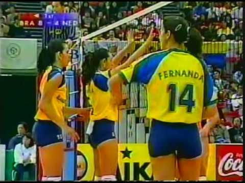 1998 Volleyball World Championship: Brazil 3x0 Holland (Set 2)