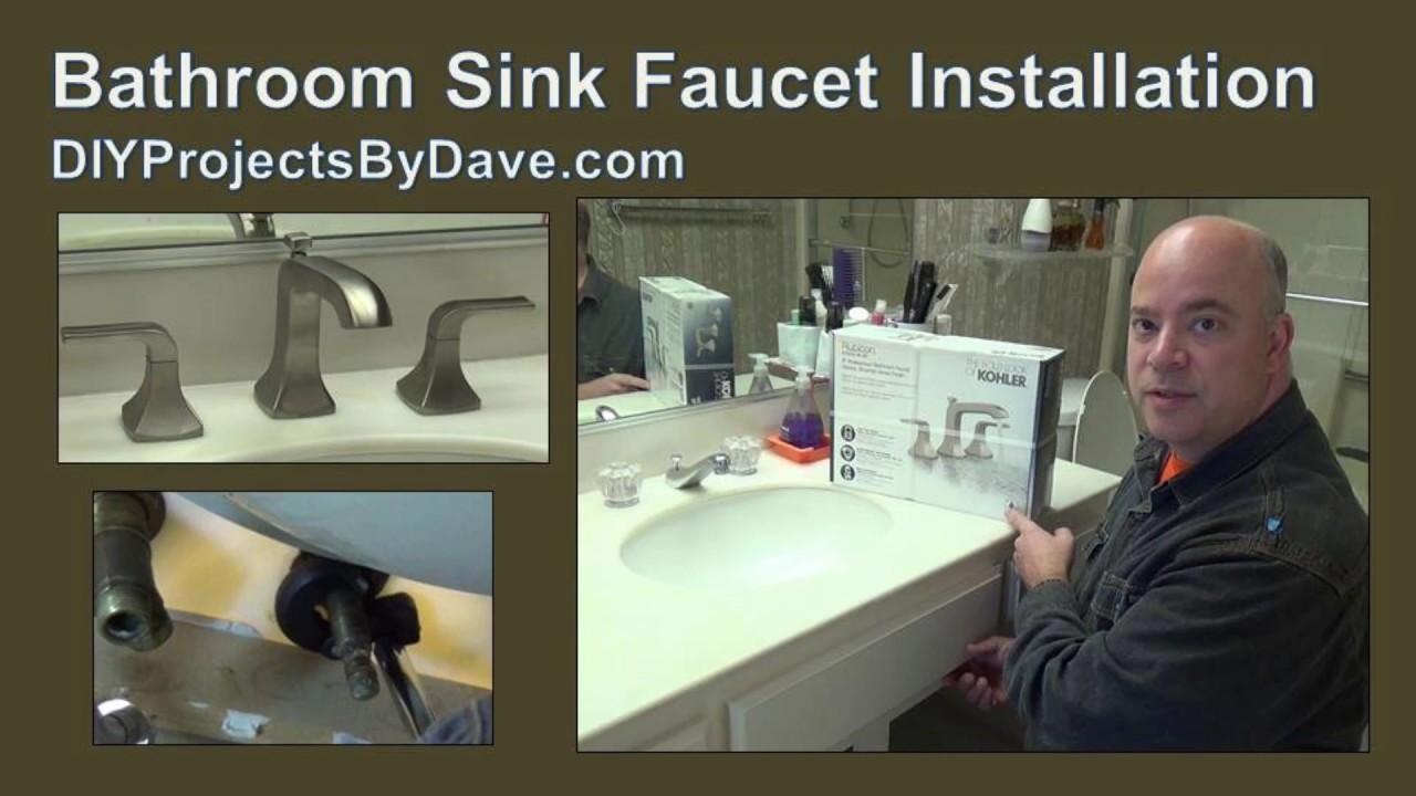 diy kohler bathroom sink widespread faucet installation kohler faucet diyprojectsbydave
