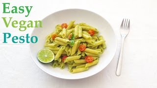 Delicious Creamy Avocado Pesto Recipe -  Vegan - No Oil