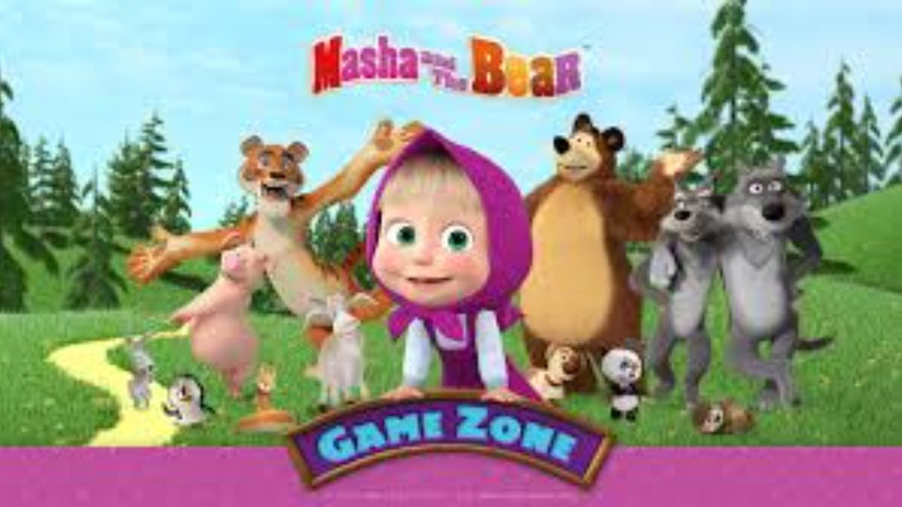 Masha and the Bear - Game zone COLOURS LEARNING AND TOYS PLAY abcd