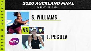 Serena Williams vs. Jessica Pegula   2020 Auckland Open Final   WTA Highlights
