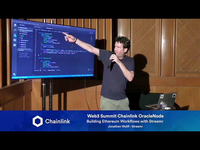 Chainlink Web3 Summit HackerNode: Building Ethereum Workflows with Streamr