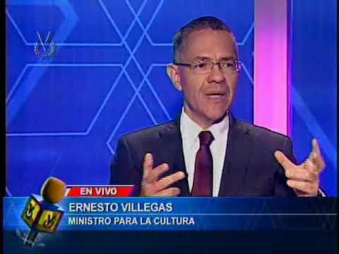 Entrevista Venevisión: Ernesto Villegas ministro para la cultura