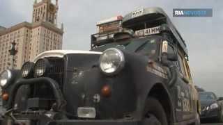 Längste Taxifahrt der Welt Britische Rekordritter machen Halt in Moskau