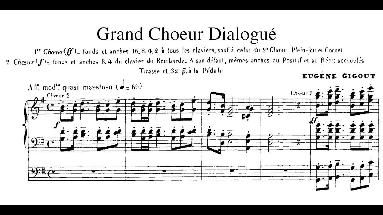 Eugène Gigout/Smedvig - Grand chœur dialogué (1881) arr  for Organ, Brass &  Percussion