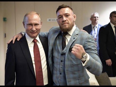 Conor McGregor meets Vladimir Putin at 2018 World Cup Final