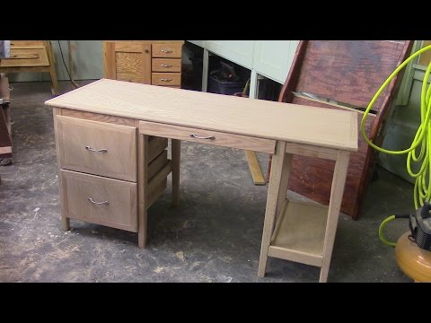 79 Building an Oak Computer Desk