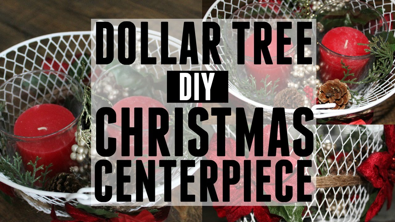 a very merry dollar tree challenge diy christmas centerpiece - Diy Christmas Centerpieces