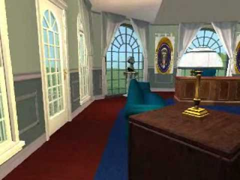 The Sim White House Virtual Oval Office Tour Youtube