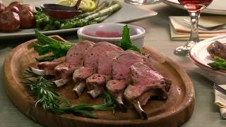 Herb Crusted Lamb with Mint Sauce