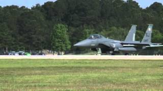F15 Takeoffs at Seymour Johnson Air Force Base