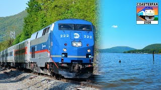 Metro North Trains on the Hudson River!