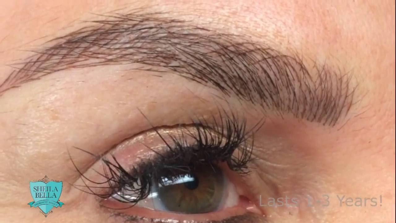 Permanent Hair Stroke Brows Youtube