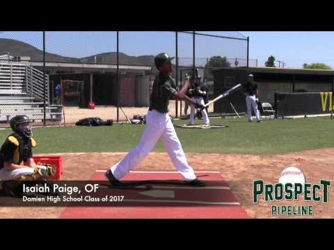 Isaiah Paige Prospect Video, OF, Damien High School Class of 2017
