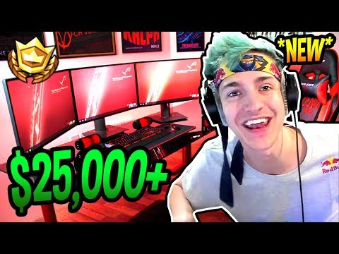 NINJA SHOWS HIS *NEW* GAMING SETUP IN HIS MANSION! Fortnite FUNNY & SAVAGE Moments