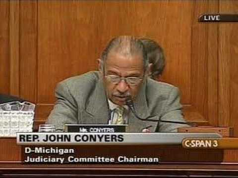 House Judiciary Hearing on US Attorneys: Conyers