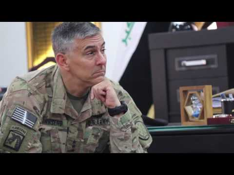 U.S. Army Lt. Gen. Townsend meets with Iraqi security forces leaders