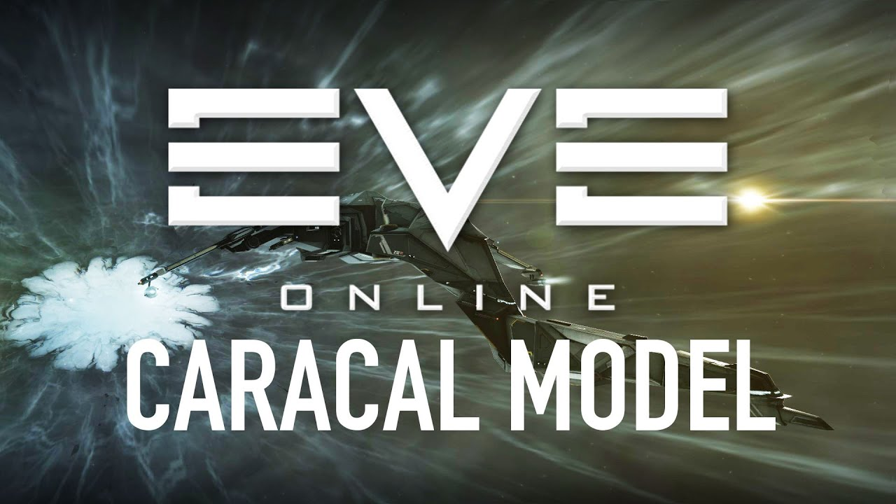 EVE Online - Caracal Model and Warp Animation