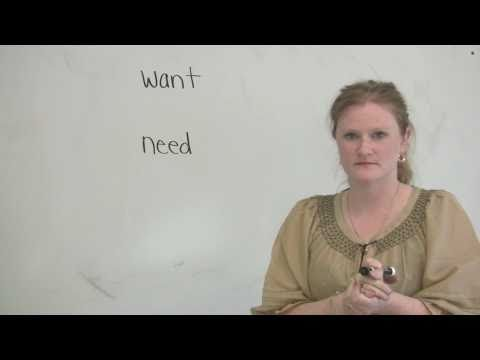 """English Vocabulary - The difference between """"want"""" & """"need"""""""