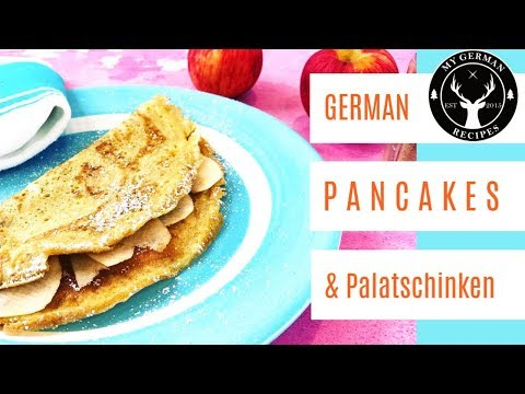 How to make Pancakes German, Apple Pancakes & Palatschinken ✪ MyGerman.Recipes