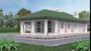 Проект одноэтажного дома с тремя спальнями ДС 154-8