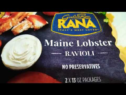 SARAHTRYS RANA MAINE LOBSTER RAVIOLI!!!!! FOUND AT COSTCO 😁!!!!!