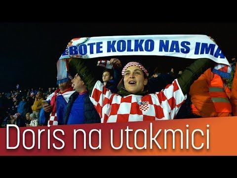 Doris prvi put u životu na nogometnoj utakmici [Hrvatska - Grčka]