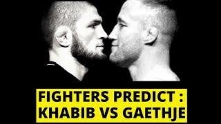 UFC fighters PREDICT Khabib Nurmagomedov vs Justin Gaethje (Shocking Picks)