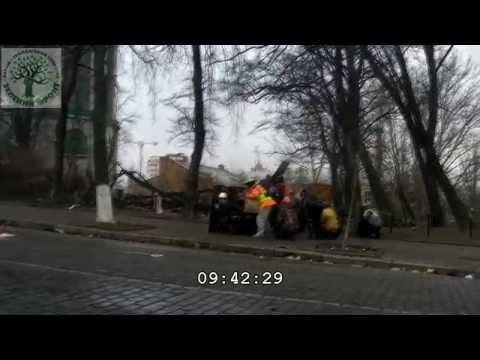 Carnage on Institutskaya Street on February 20, 2014  Maidan, Kiev, Ukraine