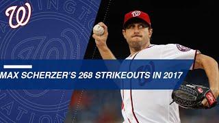 Watch all 268 of Max Scherzer's strikeouts in 2017