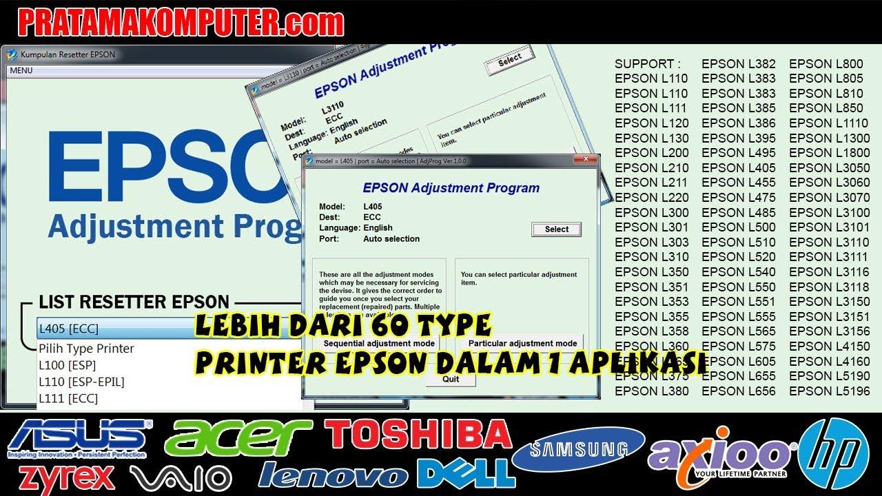 Reset Epson L375 L475 ,No Lock Adjustment Program