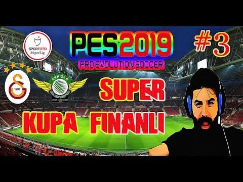 Pes 2019 Analig Galatasaray Kariyeri #3   Akhisarspor Süper Kupa Finali
