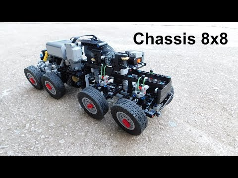 lego technic rc chassis 8x8 youtube. Black Bedroom Furniture Sets. Home Design Ideas