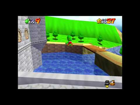 Walking Underwater [Twitch Clip; Super Mario 64 Online with Bluebomberimo]
