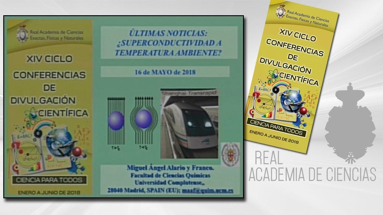 Miguel Ángel Alario y Franco, 17 de mayo de 2018.17º conferencia delXIV CICLO DE CONFERENCIAS DE DIVULGACIÓN CIENTÍFICA.CIENCA PARA TODOS 2018http://www.rac.eshttps://twitter.com/racienciashttps://arac.rac.es/