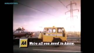 AA AUTOMOBILE ASSOCIATION  TV ADVERT  LWT 1990s  car breakdown service VERY NICE MAN VERY VERY NICE