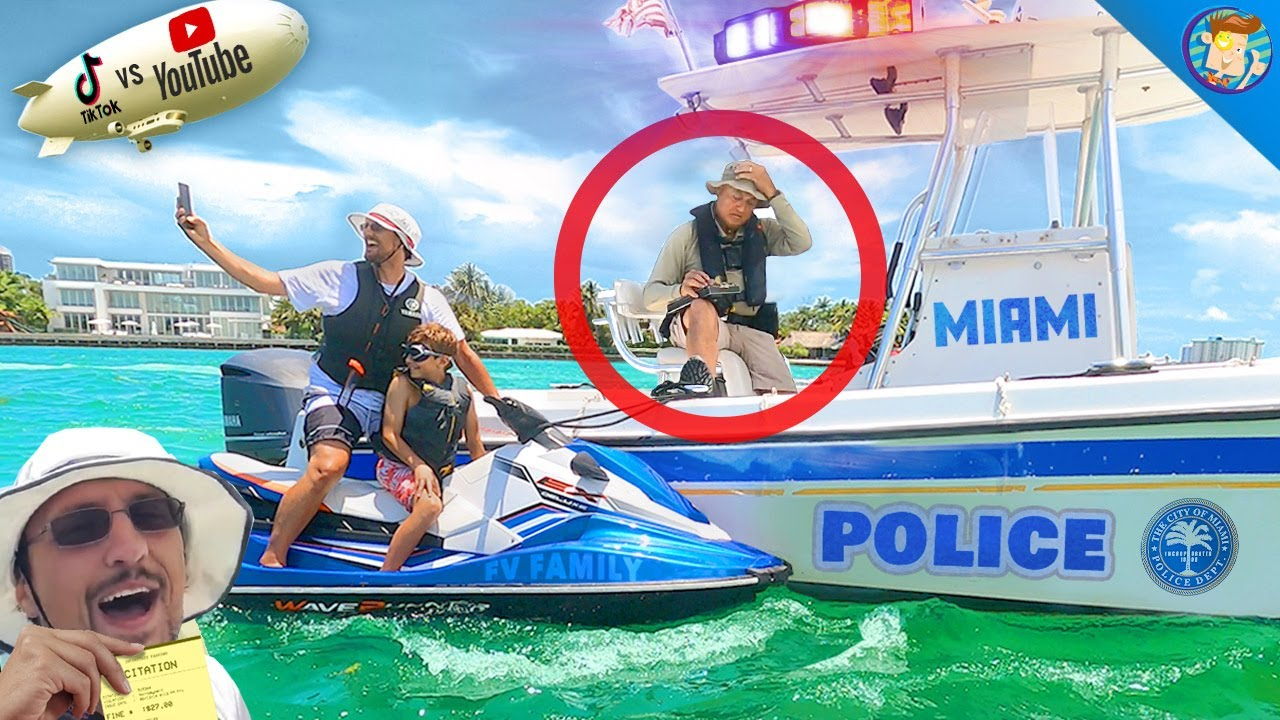 STOPPED by Miami Police b4 the YOUTUBERS vs. TIK TOK Boxing Match (FV Family Vlog)