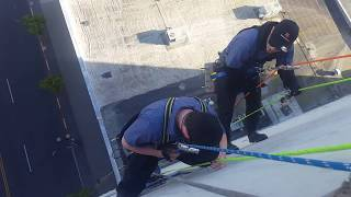 High Rise window cleaning -industeral rope access, training day