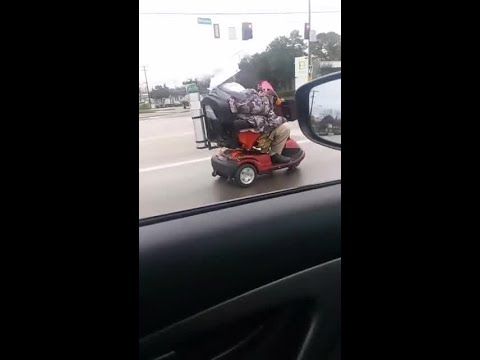 Woman rides mobility scooter onto busy interstate highway