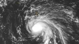 GOES-West Daylight Images of Hurricane Ana-October 2014