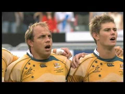Corinna Chamberlain 陳明恩 Singing National Anthems @ Bledisloe Cup Match, 2009