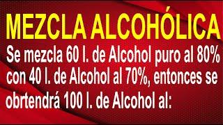 PLANTEO DE ECUACIONES:  Mezcla Alcohólica