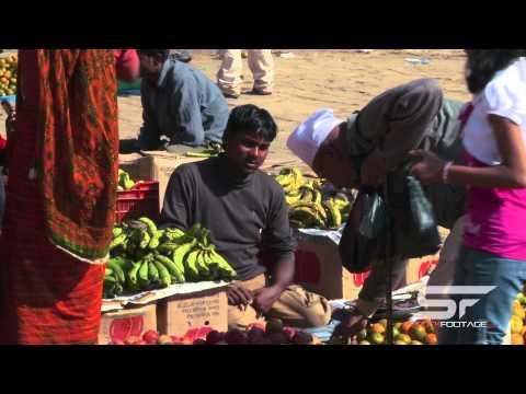 Bartering in a village marketplace in Nepal.